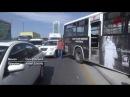 """Bakıda avtobusla """"avtoşluq"""" – İNANILMAZ GÖRÜNTÜLƏR"""