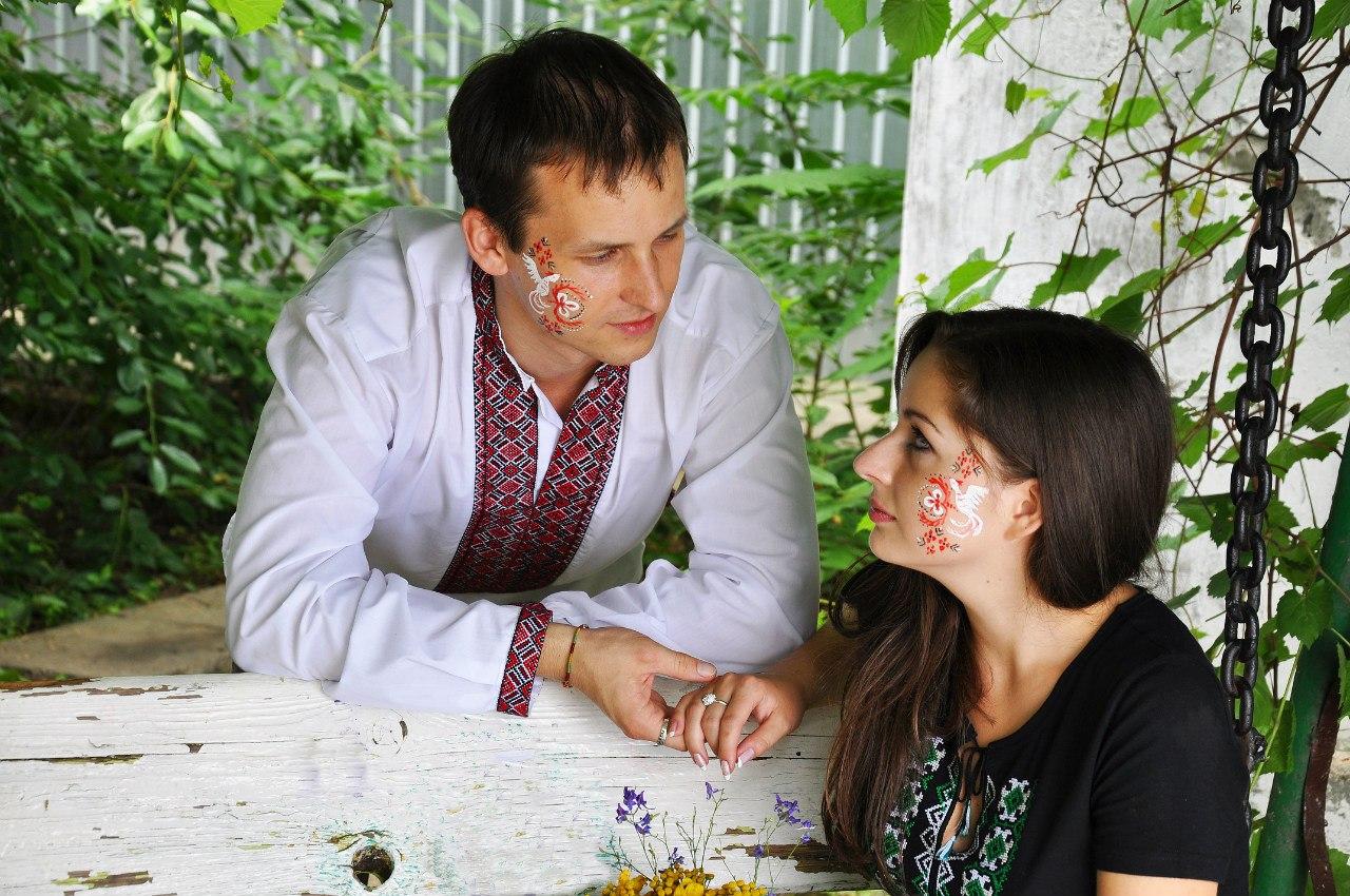 Українці. хлопець і дівчина