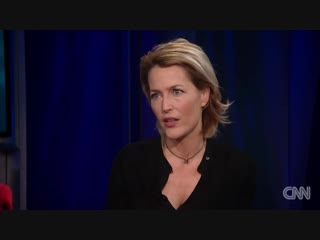 Gillian anderson on cnn with christiane amanpour