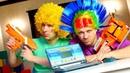 Смешные видео – Пропал бластер Мега Нерф! - Игры для мальчиков Nerf for kids.