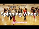 Spinning Wheel Line Dance (Beginner / Improver waltz) Derek Robinson Demo Count