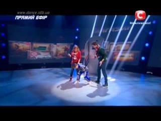 Танцуют все 6 сезон - Яна, Вова и маленький мальчик-  Второй прямой эфир 06.12.2013