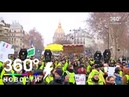 Жёлтые жилеты штурмуют Париж под Марсельезу