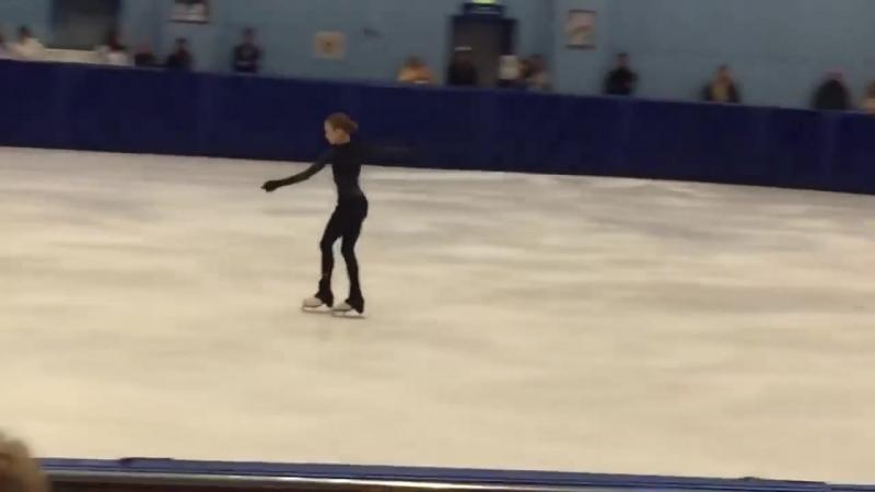 Александра Трусова. Три четверных прыжка в произвольной программе.