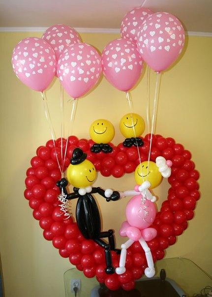 Подарок на свадьбу из шаров фото