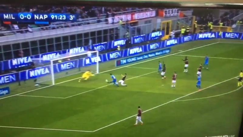 La parade exceptionnelle de Donnarumma face à Milik à la 92 ! 0-0 MilanNapoli