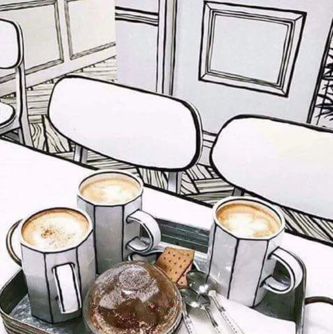 Это не рисунок. Это кафе в Южной Корее