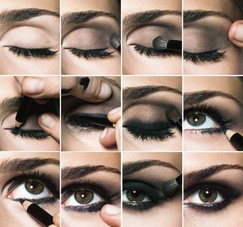Вечерний макияж глаз отлично подойдет для празднования нового года!
