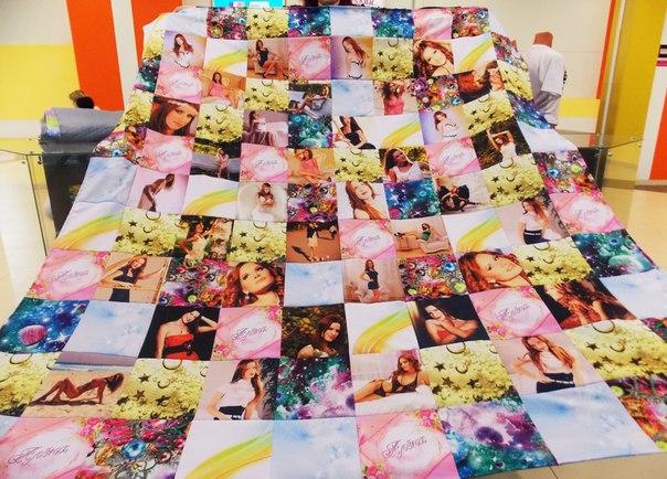 одеяло с фотографиями на заказ