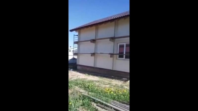 Покраска дома из двойного бруса Казань, Верхний Услон