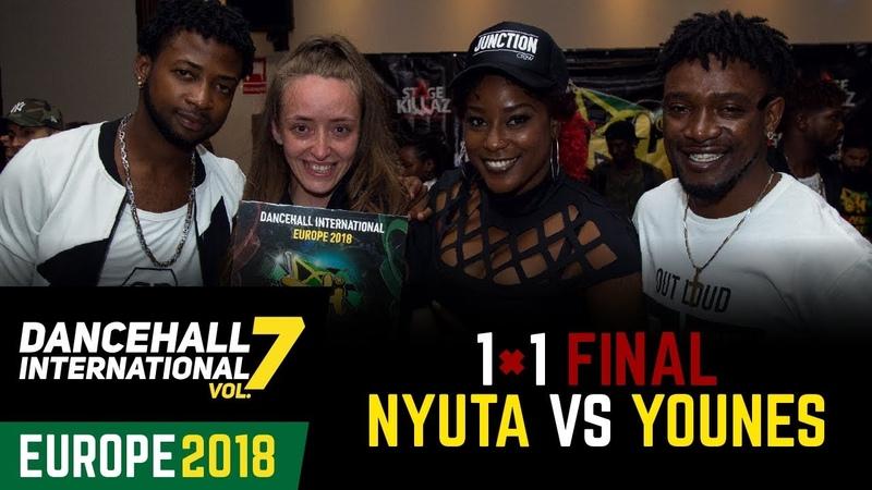 DANCEHALL INTERNATIONAL EUROPE 2018 | FINAL 1VS1 BATTLE - NYUTA (win) vs YOUNES