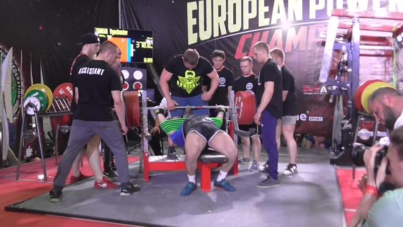 Тункин Вячеслав жим в слинге ультра 370 кг