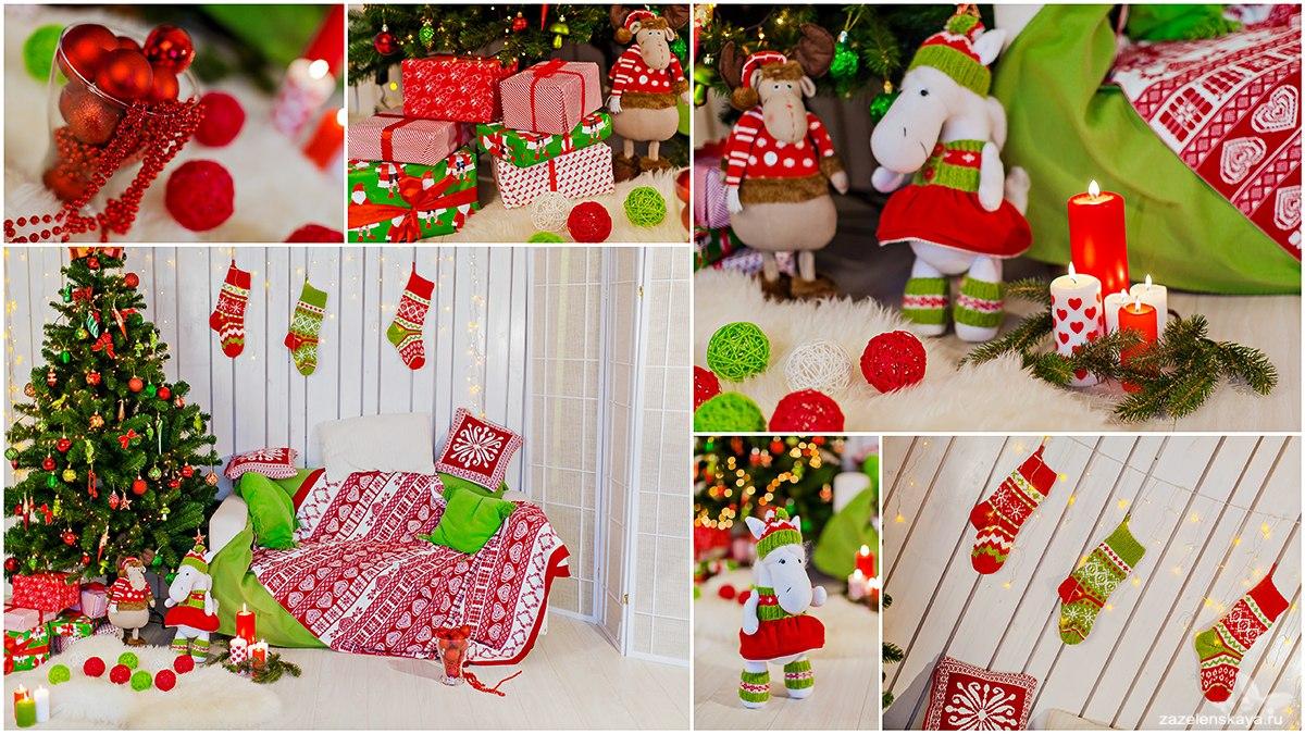 декорации для новогодней фотосессии