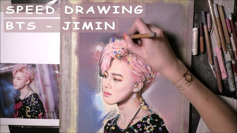 [SPEED DRAWING SOFT PASTELS] BTS JIMIN 방탄소년단 지민 - YNWA Era