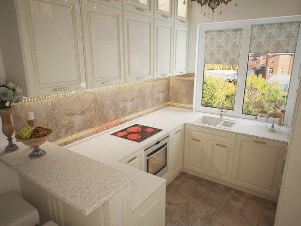 Кухня в загородном доме 6 кв.м. (3 фото) - картинка