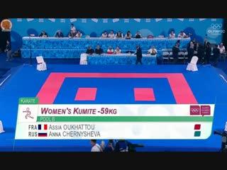 Первый бой Анны Чернышевой на Юношеской Олимпиаде 2018