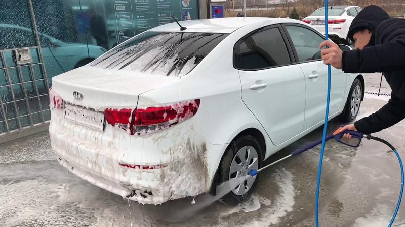 Мойка очень грязной машины за 140 рублей с воском и осмотической водой