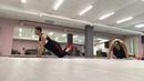 Упражнение на трицепс. Отжимания узким хватом. Обучение фитнес- инструкторов.