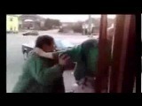 Two drunk old man fighting CRAZY