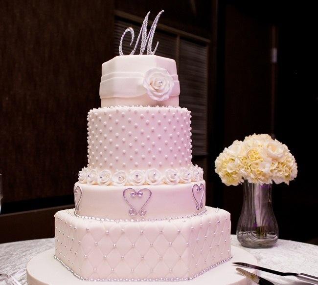 EDtORu06Jpk - Золотые и серебряные свадебные торты 2016 (70 фото)