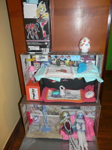 Мебель для кукол монстер хай своими руками видео уроки