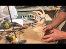 WOOD CARVING BUCK SCULPTURE PROJECT PART 2 (ANTLERS)