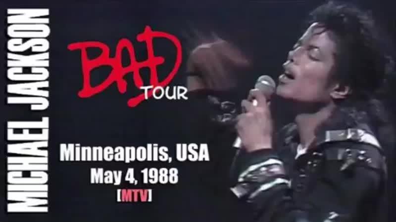 New Audio Bad Tour live at Minniapolis May 4,1988 Rare