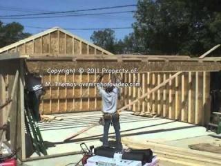 24x24 Garage built in 5 hours (7.3152x7.3152) Garaje construida en 5 horas