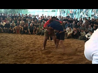 Metreveli(BLUE)-Okruashvili(RED) +100 Kg Georgian Traditional Wrestling Chidaoba  2010