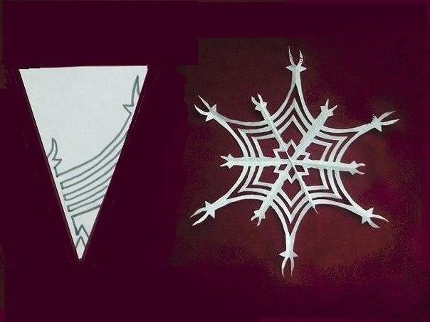 wpid efadshWLL6I Как вырезать красивую снежинку из бумаги.