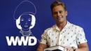 Billy Magnussen Reads Hat From the Fairchild Dictionary of Fashion WWD