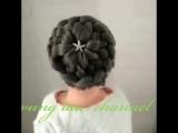 Схема плетения красивого пучка