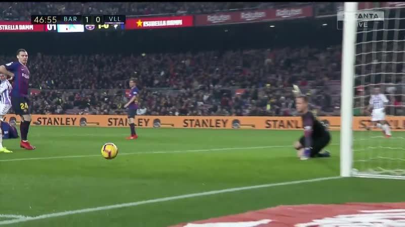 Испания ЛаЛига Барселона - Вальядолид 1:0 обзор 16.02.2019 HD