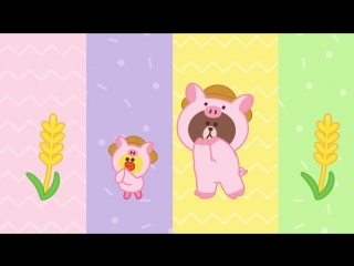 [Brown TV] Oats, Peas, Beans and Barley Grow _ Nursery Rhymes _ Line Friends Kids Song
