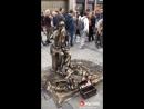 Impressive human statue/fountain