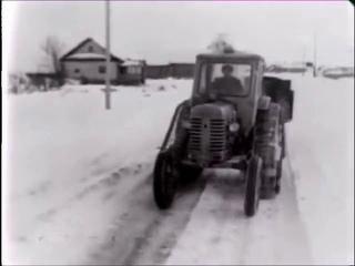 Беларус МТЗ-50 полугусеничный трактор. Вологодская обл. РСФСР (1968).