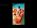 Глюкоза (Наталья Ионова) в бассейне в Антибе - Instagram, 19072018 - Голая? Секси, попка, ножки