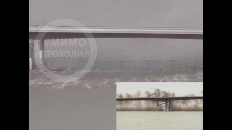 Демонтаж старого моста в штате Миссури США