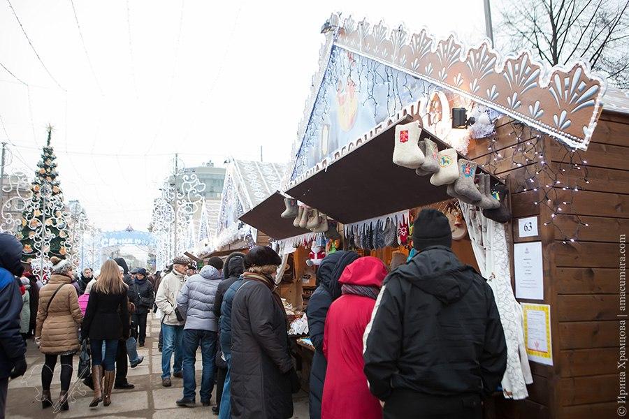 Ногодняя ярмарка на Пионерской площади