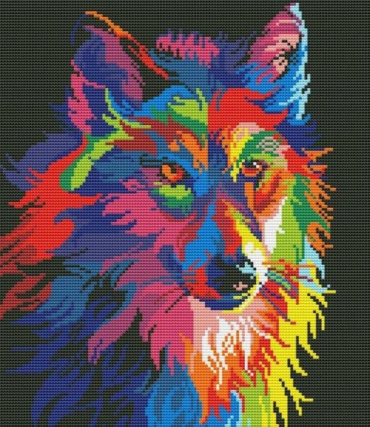 Схемы вышивки радужные звери