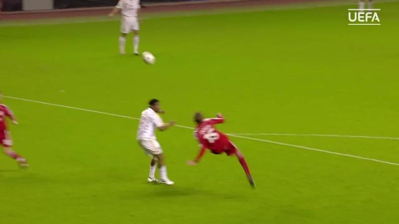 Peter Crouch overhead kick - Liverpool v Galatasaray - 2006/07 TAV
