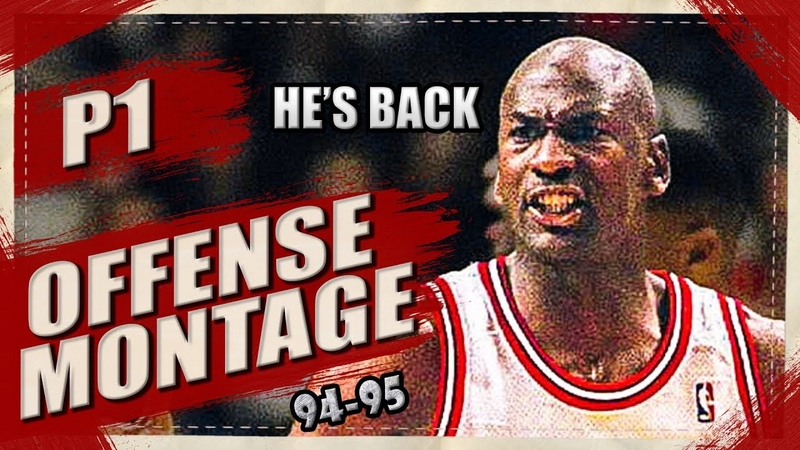 Michael Jordan BIRTHDAY SPECIAL Offense Highlights Montage 1995 (Part 1) 1080p HD - HE's BACK!