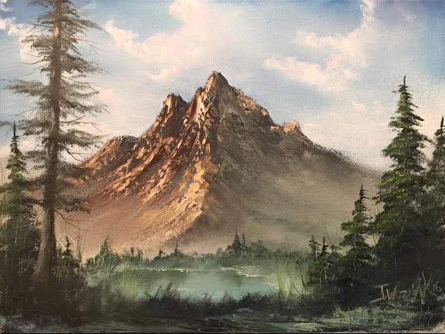 Paintings by Justin - lakeview mountain full painting (unedited)