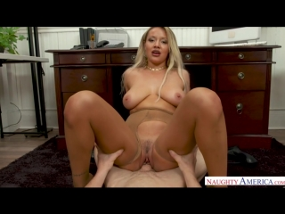 Kylie Page gets fucked in tan pantyhose