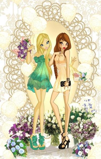 Игра одевалка модных сестриц и картинки винкс