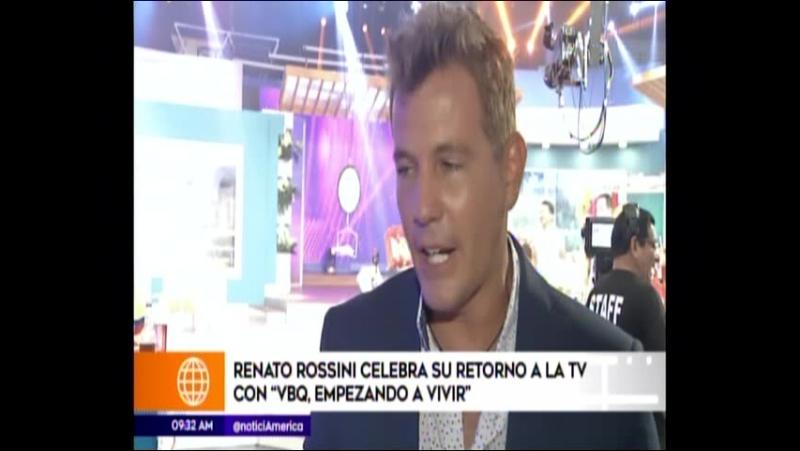 Renato Rossini celebra su retorno a la Tv con VBQ Empezando a Vivir