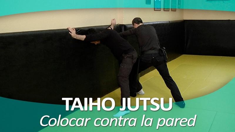 TAIHO JUTSU 10 (sistema japonés defensa personal policial) | Colocar persona contra la pared