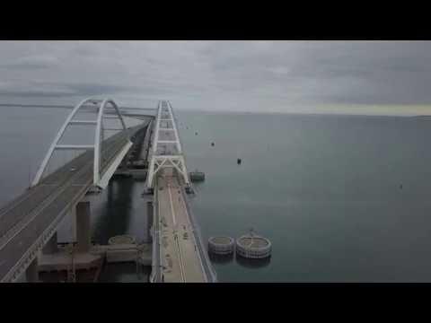 Прогулка от Керченского Моста через Керчь по Бигельскому виадуку и до самого посёлка Багерово.