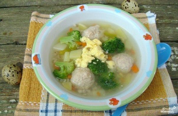 Суп с фрикадельками для детей рецепт с пошагово