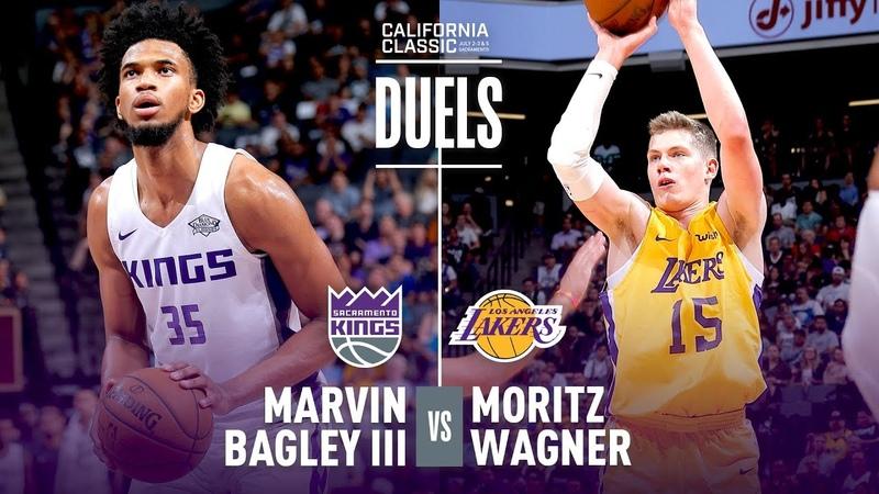 Marvin Bagley Moritz Wagner Duel In 2018 NBA Summer League Debut!